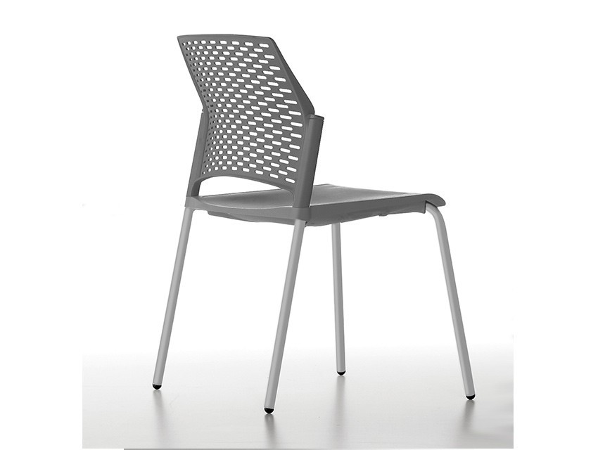 Silla de polipropileno re 570g gris k mueble for Sillas de polipropileno