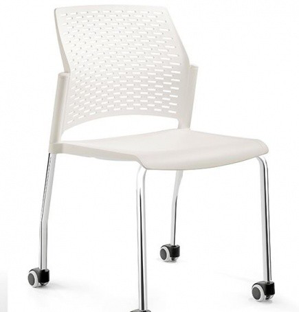 Silla de polipropileno RE-570R-CROMO-BLANCO